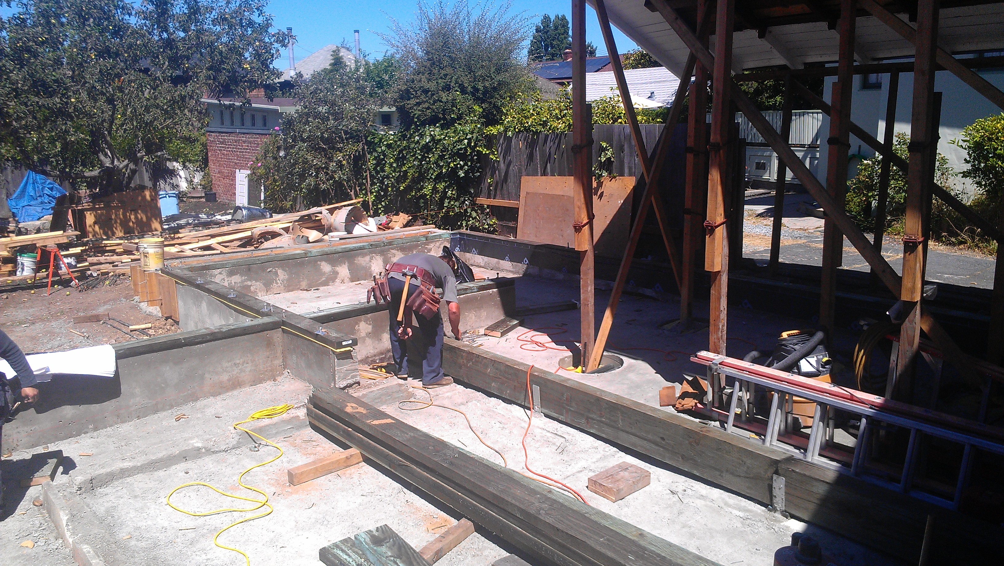 rolling out floor joists