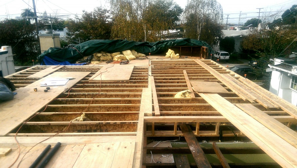 Installing the new TJI floor joists